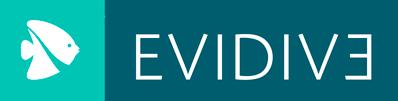 Logotipo da escola de mergulho Evidive