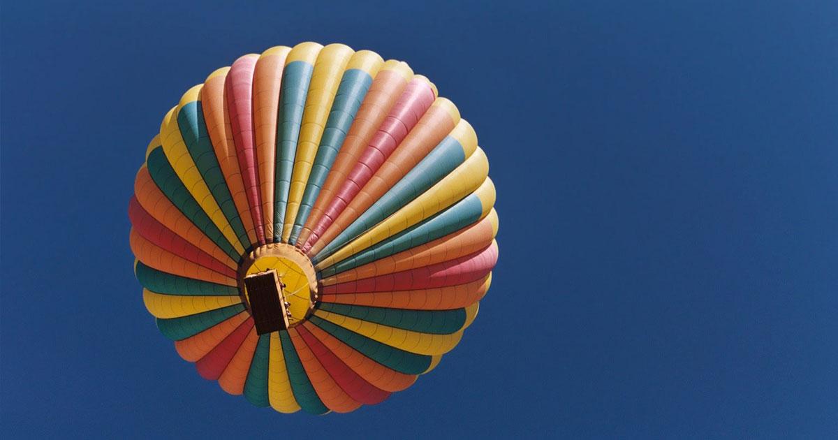 Um passeio de balão é um bom presente experiência