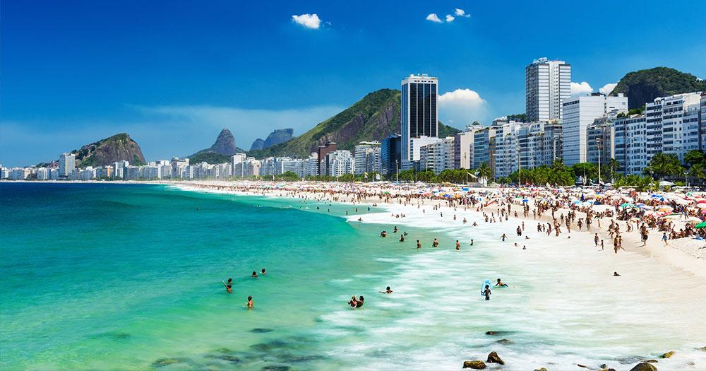 A praia de Copacabana é uma das melhores praias do Rio de Janeiro