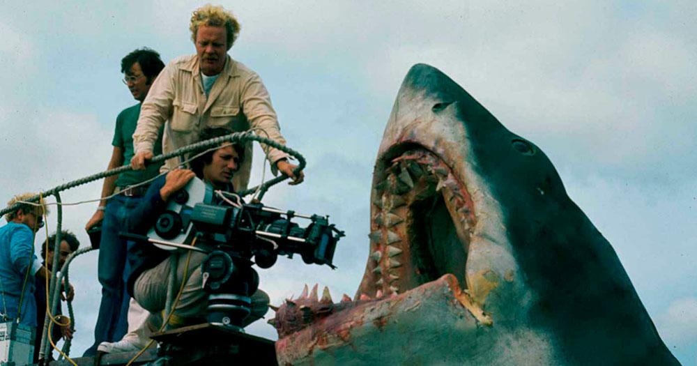 Mergulho e tubarões - set de Spielberg