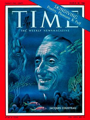 Jacques Cousteau na capa da revista TIME
