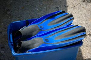 Nadadeiras fazem parte do equipamento de mergulho