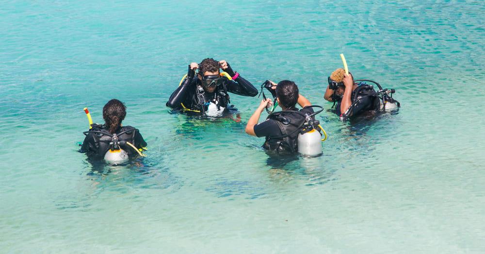 Um curso de mergulho é um aprendizado!