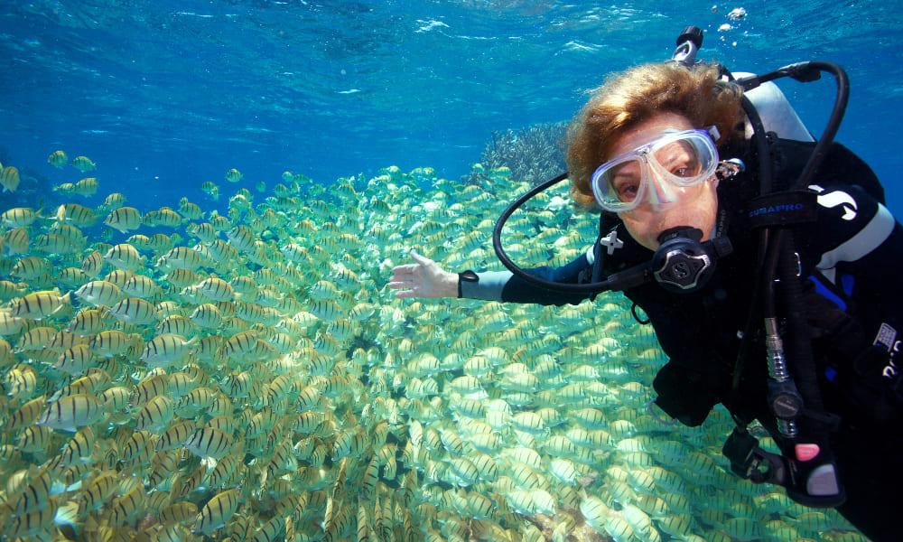Sylvia Earle é uma das maiores mergulhadoras de todos os tempos